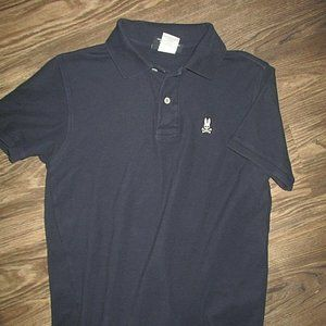Psycho Bunny Polo Shirt (Size 4) Navy Blue